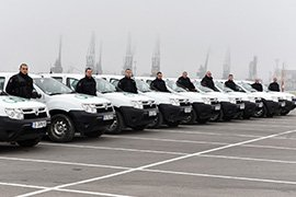 автомобили за СОТ охрана