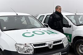автомобил на охранителна фирма Варна